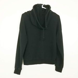 PUMA Women's Hoodie Cowl Sweatshirt Black S #3828